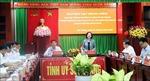 Trưởng ban Dân vận Trung ương Trương Thị Mai làm việc tại Sóc Trăng