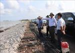 Khảo sát tiến độ khắc phục sụt lún, sạt lở đất tại huyện Trần Văn Thời