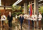 Chủ tịch Cuba Miguel Díaz-Canel chủ trì Lễ đón Chủ tịch nước Nguyễn Xuân Phúc