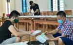 Dựng nhà tạm cho người cách ly tại nhà ở Lục Yên, Yên Bái