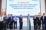 Trường Đại học Phenikaa được chứng nhận kiểm định chất lượng giáo dục