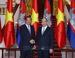 Thủ tướng Nguyễn Xuân Phúc đón, hội đàm với Thủ tướng Campuchia