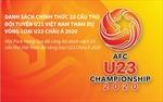 Danh sách chính thức U23 Việt Nam tham dự vòng loại U23 châu Á 2020