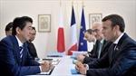 Thủ tướng Nhật Bản hội đàm với Tổng thống Pháp, nhất trí thắt chặt hợp tác song phương