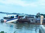 Ca nô du lịch va chạm ghe gỗ trên sông Vàm Cỏ Đông, cụ bà 70 tuổi tử vong