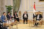 Trưởng Ban Tổ chức Trung ương Phạm Minh Chính thăm, làm việc tại Ai Cập