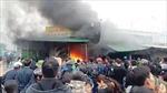Cháy rụi 7 ki ốt tại chợ Phủ Diễn, Nghệ An