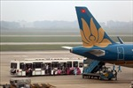 Hành khách có thể tự làm thủ tục hành lý tại kiosk ở sân bay