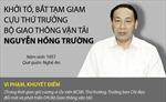 Khởi tố, bắt tạm giam cựu Thứ trưởng Bộ Giao thông Vận tải Nguyễn Hồng Trường