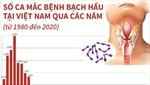 Số ca mắc bệnh bạch hầu tại Việt Nam qua các năm