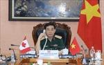 Bộ trưởng Bộ Quốc phòng Việt Nam điện đàm với Bộ trưởng Quốc phòng Canada