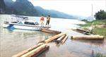 Phát hiện thuyền chở 42 hộp gỗ trái phép trên sông Gianh