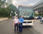Kiểm tra phòng dịch COVID-19 trên xe khách tại các khu vực giáp ranh với Hà Nội