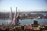 Máy bay chở đoàn đại biểu Triều Tiên tới thành phố Vladivostok của Nga