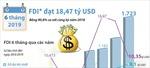 6 tháng đầu năm, vốn FDI vào Việt Nam đạt hơn 18 tỷ USD