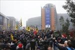Cảnh sát Bỉ dùng vòi rồng và hơi cay trấn áp tuần hành về hiệp ước di cư