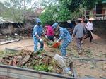 BTL Vùng Cảnh sát biển 1 giúp dân khắc phục thiệt hại do bão số 5 gây ra