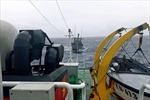 Tàu của Kiểm ngư cứu hộ tàu cá ngư dân gặp nạn trên biển
