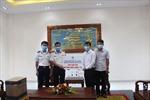 BTL Vùng Cảnh sát biển 4 tiếp nhận vật tư y tế chống dịch COVID-19