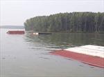 Chìm tàu chở 285 container trên sông Lòng Tàu