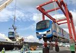 Đoàn tàu đầu tiên tuyến Metro số 1 đang trên đường về cảng tại TP Hồ Chí Minh