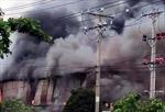Cháy xưởng gỗ ở khu công nghiệp Bình Chiểu
