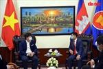 Hội Doanh nhân trẻ Việt Nam tặng 15 tấn gạo hỗ trợ người dân Campuchia