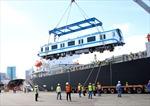 Đoàn tàu số 4 và số 5 tuyến metro Bến Thành – Suối Tiên cập cảng TP Hồ Chí Minh