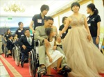 Ấm áp lễ cưới tập thể của 40 cặp đôi khuyết tật tại TP Hồ Chí Minh