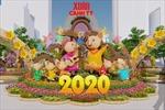 Đường hoa Tết Canh Tý 2020 dùng vật liệu thân thiện với môi trường