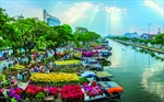 TP Hồ Chí Minh nâng tầm chợ hoa xuân 'Trên bến dưới thuyền'
