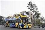 Xe buýt 2 tầng phục vụ khách du lịch tại Hạ Long