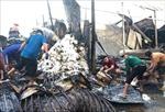 Hỏa hoạn thiêu rụi 12 căn nhà tại thị trấn Năm Căn, 1 người tử vong