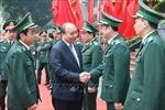 Thủ tướng Nguyễn Xuân Phúc thăm, chúc Tết Bộ Tư lệnh Bộ đội Biên phòng