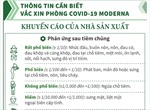 Thông tin cần biết vaccine phòng COVID-19 Moderna: Khuyến cáo của nhà sản xuất (số 4)