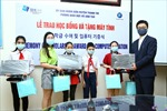Hà Nội: Trao học bổng và máy tính cho học sinh nghèo huyện Thanh Trì