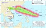 Siêu bão Mangkhut mạnh cấp 17 chuyển hướng về Bắc Biển Đông