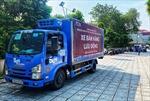 Cận cảnh xe bán hàng lưu động đầu tiên trong thời gian giãn cách xã hội tại Hà Nội