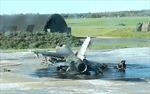 Tiêm kích F-16 Bỉ tự bắn nhau tan nát tại căn cứ không quân