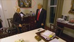 Nguồn gốc bức tranh Tổng thống Trump uống nước ngọt với những người tiền nhiệm