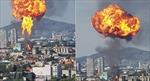 Nhà máy rượu phát nổ tạo thành quả cầu lửa khổng lồ ở Mexico