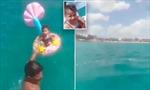 Giải cứu bé 1 tuổi trôi dạt xa 1,6 km ngoài biển