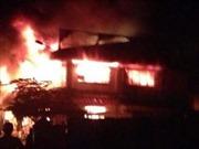 Tiệm sửa chữa điện tử phát nổ, bốc cháy dữ dội làm 3 người thiệt mạng