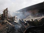 Hình ảnh vụ cháy xưởng gỗ tại TP HCM