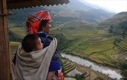 Nét bình dị người H'Mông trong mùa gặt trên hãng tin nước ngoài