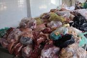 Thu giữ lượng lớn nội tạng động vật bốc mùi dùng để chế biến thực phẩm