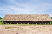 Nhà sàn của người Cơ Tu ở Tây Giang