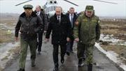 Putin thị sát diễn tập bắn đạn thật gần biên giới Ukraine