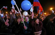 Người Crimea ăn mừng ngay trong đêm