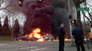Máy bay trực thăng phát nổ giữa trung tâm thành phố Mỹ
